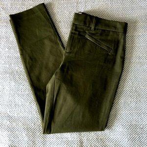 Gap for good olive green skinny ankle pants size 4